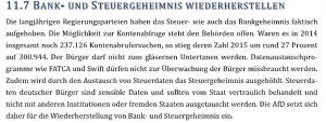 Leitantrag Bank- und Steuergeheimnis