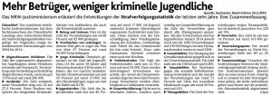 Strafverfolgung NRW 10 Jahre
