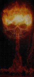 Bild Explosion Totenkopf