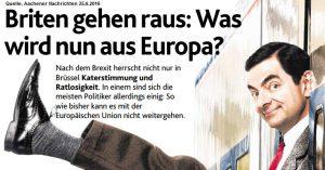Briten gehen raus aus Europa