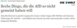 AFD Schelte
