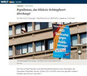 Populismus Sprenger