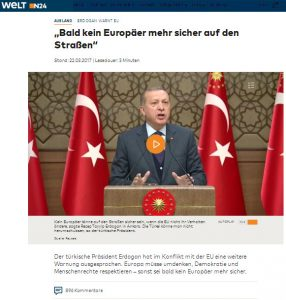 Erdogan droht