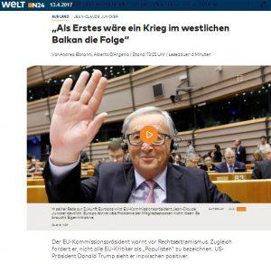 Juncker Balkan Krieg