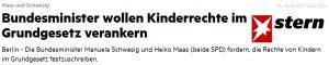Maas schwesig Kinderrechte
