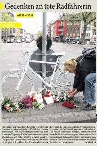 Radfahrerin tot