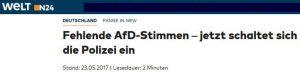 AfD Fehlende Stimmen