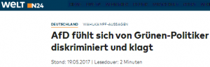 AfD klagt
