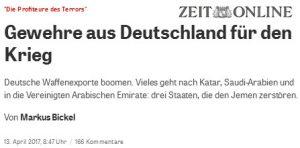 Saudi Arabien Gewehre aus Deutschland