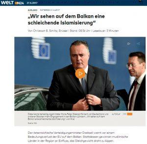 Schleichende Islamisierung Balkan